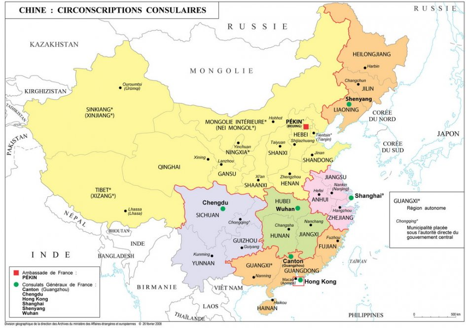 Carte Chine Hunan.Les Circonscriptions La France En Chine